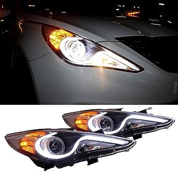 Amazon Com Cciyu Led Front Headlight Assembly Head Lights Halo