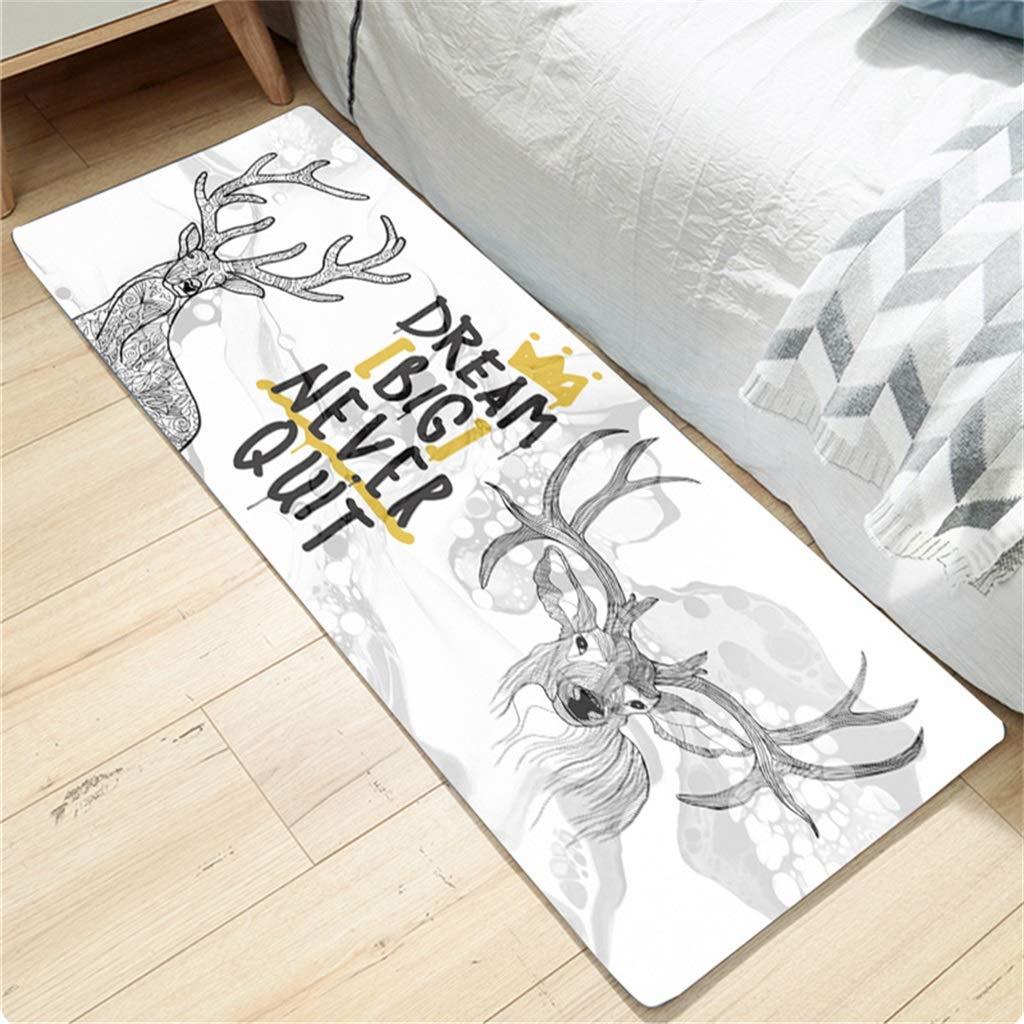 Kitchen Mats Non Slip Kitchen Rugs Doormat Area Floor Mats Bedroom Anti-Fatigue Carpet Cushioned Door Mats