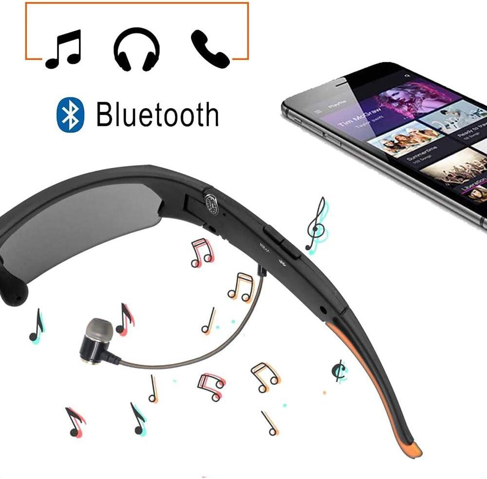 Gafas De Sol Bluetooth C/ámara Integrada De 32 GB Tarjeta De Memoria 1080P HD Deportes Al Aire Libre C/ámara Grabadora De V/ídeo Para Subir A Caballo Pesca De La Motocicleta Y Deportes Al Aire Libre