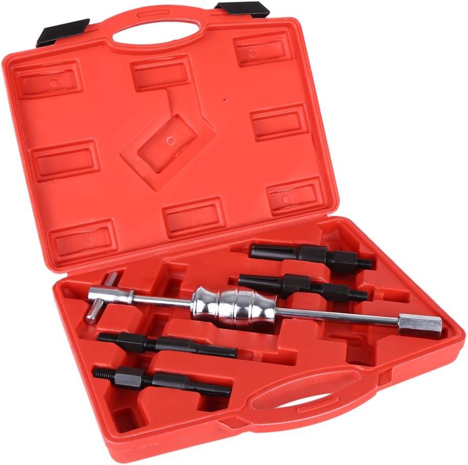 SOULONG - Juego de 5 extractores de rodamiento Interior con Martillo de Deslizamiento y Extractor de 10-32 mm para reparación de Coche