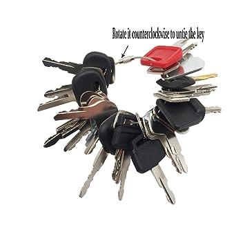 Amazon.com: Juego de 28 llaves de encendido de construcción ...