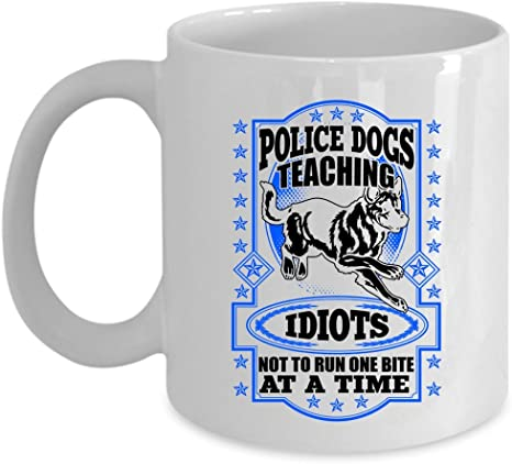 Police Officer Dog K 9 Travel Tumbler Stainless Steel Gift Coffee Cup