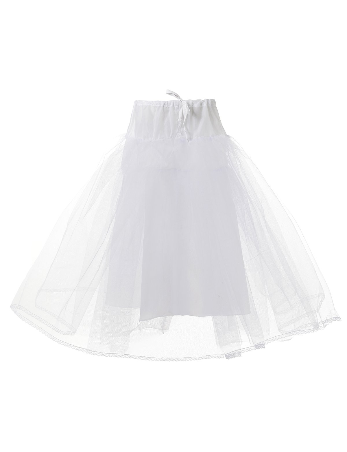 Remedios Kids White 3 Layers Wedding Flower Girl Petticoat/Underskirt/Crinoline,L
