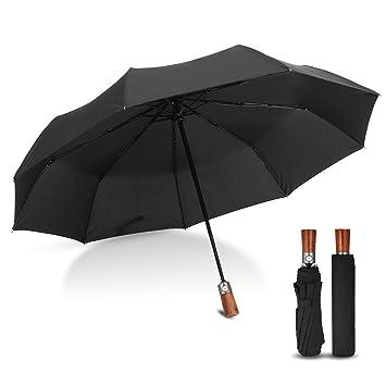 Paraguas Plegable Automático, CAMTOA Paraguas de Viaje, Auto Abierto y Cerrado con Un Botón