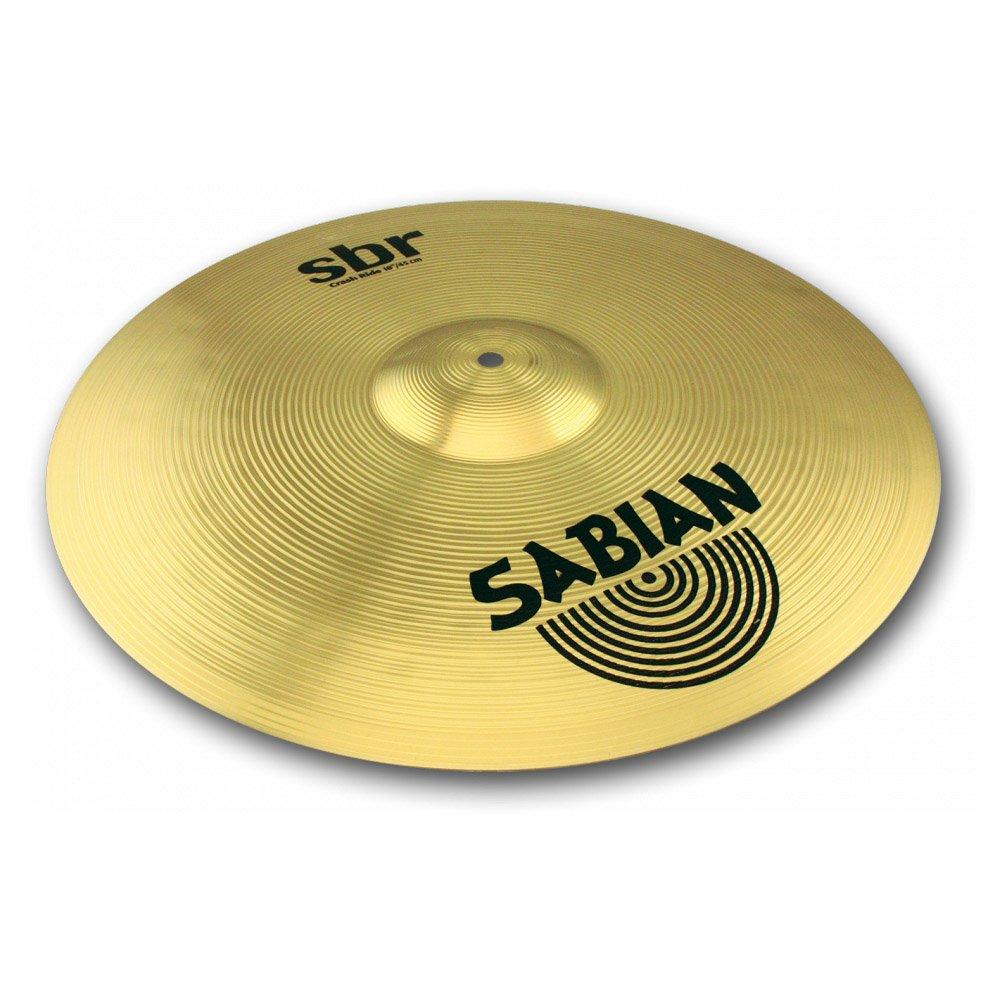 Sabian SBR1811 SBR Series Pure Brass 18-Inch Crash/Ride Cymbal with Drum Sticks, Pair by Sabian