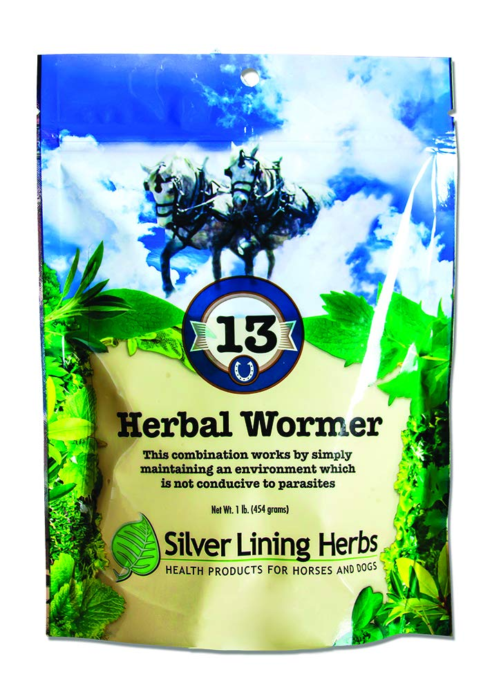 Silver Lining Herbs Natural Herbal Horse Wormer   Natural Herbs in a Proprietary Blend That Help Repel, Expel and Maintain a Horses System Worm and Parasite-Free   1Pound ReSealable Bag   Made in USA by Silver Lining Herbs
