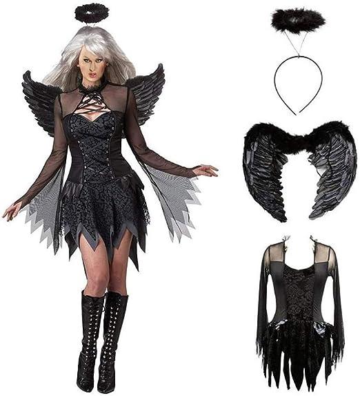 JIANG BREEZE Disfraz de Demonio de Cosplay de Halloween, Disfraz ...