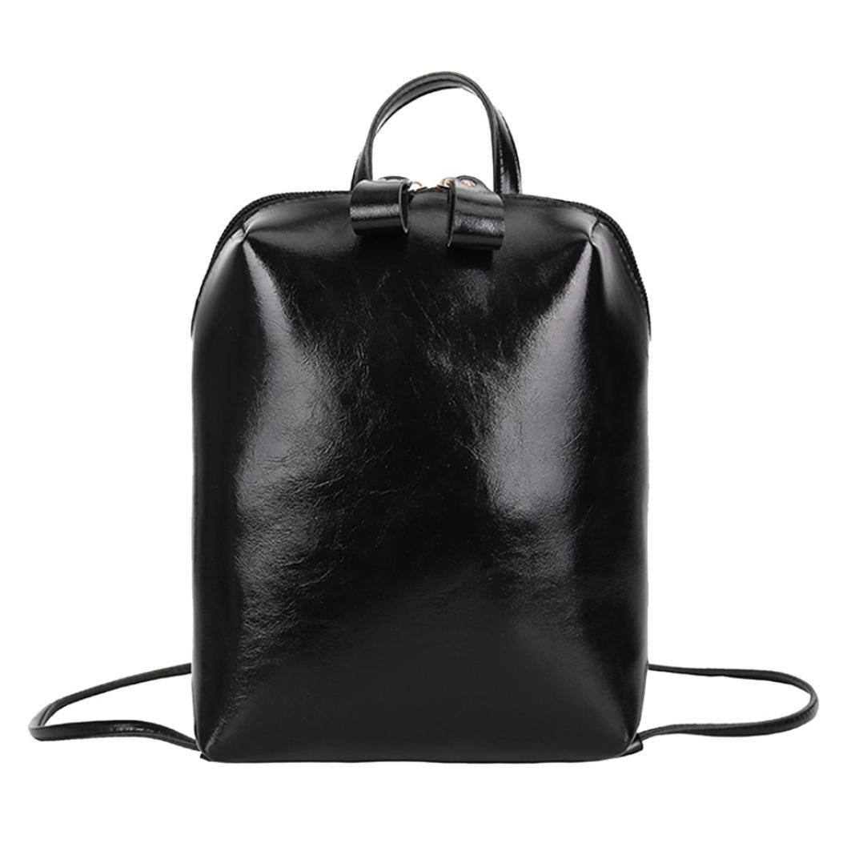 Clearance! Paymenow Fashion Shoulder Bag Rucksack PU Leather Women Girls Ladies Backpack Travel Bag School Shoulder Bag (Black)