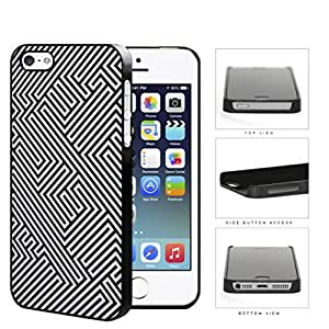 Maze Puzzle Design Pattern Hard Plastic Snap On Cell Phone Case Apple iPhone 5 5s