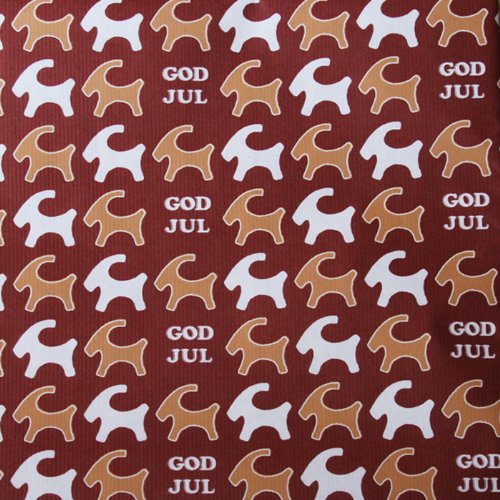 Christmas Wrapping Paper - Pepparkakor - Straw Goat
