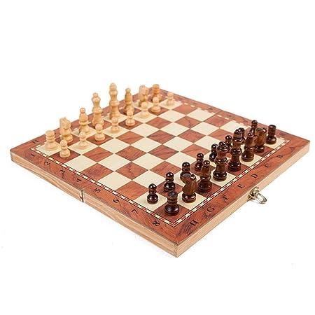Liuxiaomiao Ajedrez Juego de ajedrez de Viaje con Tablero de ...