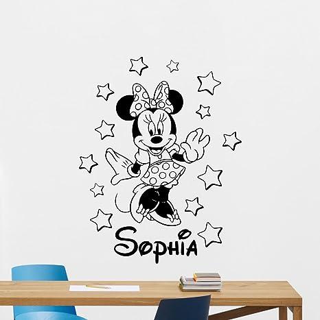 Personalised Name Wall Stickers Baby Nursery Disney Baby Custom  Art Bedroom