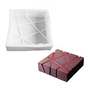 yeahii Mousse Cake Moldes forma cuadrada Chocolate molde para hornear postres Bakeware eléctrica degradado X degradado