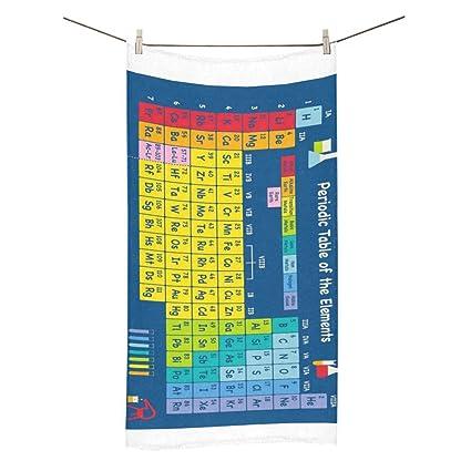 Happy más personalizado tabla periódica de elementos químicos ducha toalla de baño toalla de baño 30