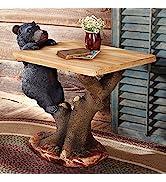 Black Bear Climbing Accent Table