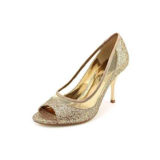 A.B.S. by Allen Schwartz Womens Dash Peep Toe Classic Pumps Bronze Size 10.0