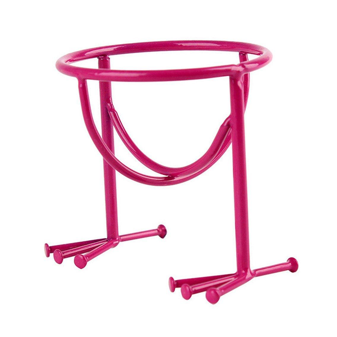 Diconna Makeup Stencil Powder Puff Sponge Stand Holder Storage Organizer Drying Rack (Rose red)
