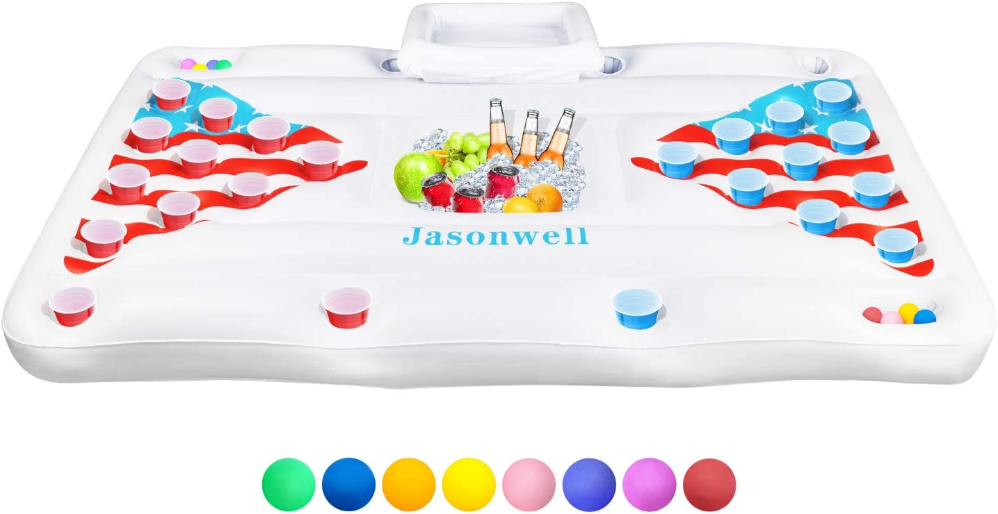 Jasonwell Beer Pong Pool Float