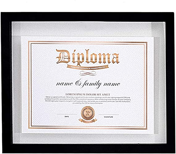 2x Document Frame w// Blank Certificate Paper for Diploma Photo 11x14 Display
