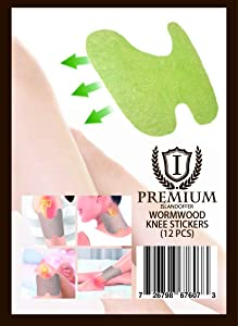 Islandoffer 12pcs/Box Knee Pain Relief Patch Hot Moxibustion Plaster Leg Pain Relief Wormwood Sticker Self Heating Warming meridians Patches Plaster