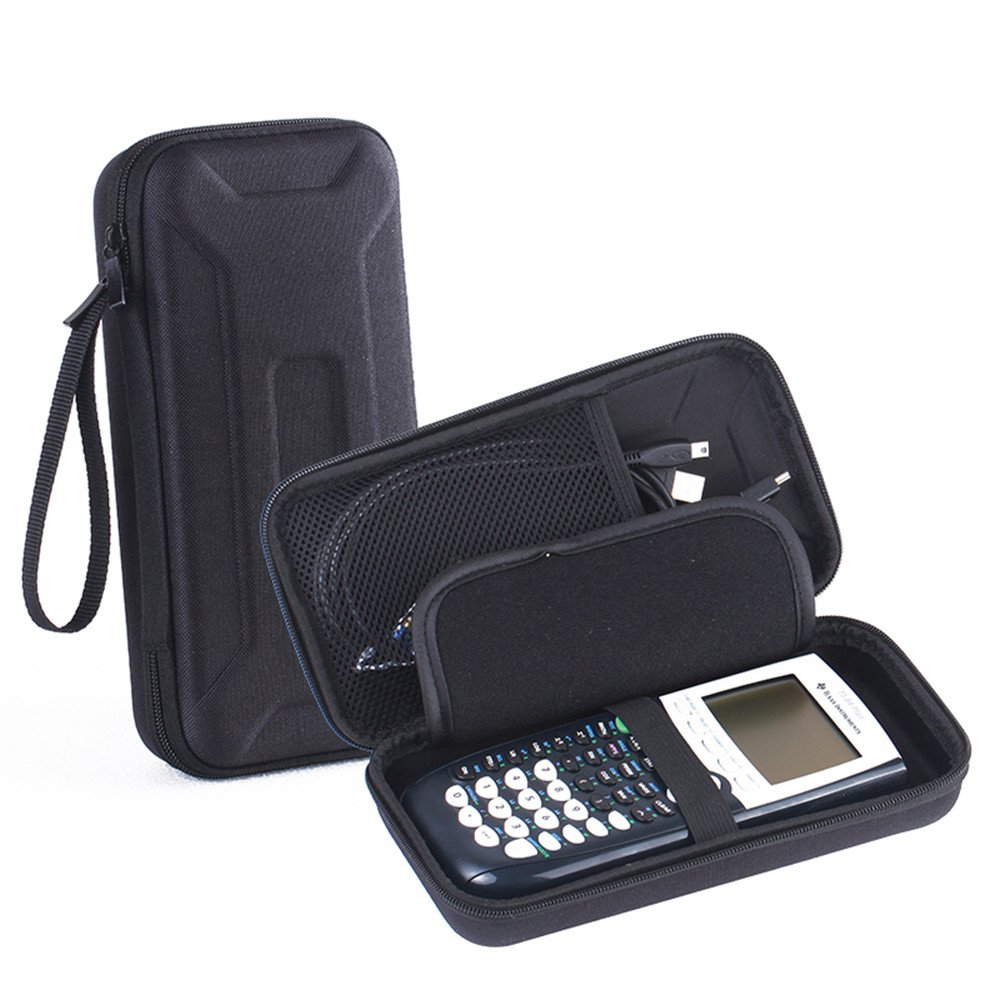 For Graphing Calculator Texas Instruments TI-84 / Plus CE Portable Hard Carrying Case Travel Bag Protective Pouch Box -Extra Room for Pen and Accessories (Gray) Esimen