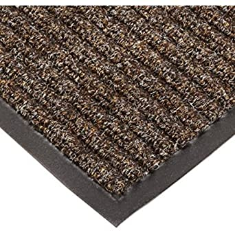 NoTrax T39 Bristol Ridge Scraper Carpet Mat Coffee for Wet and Dry Areas 3 Width x 4 Length x 3//8 Thickness
