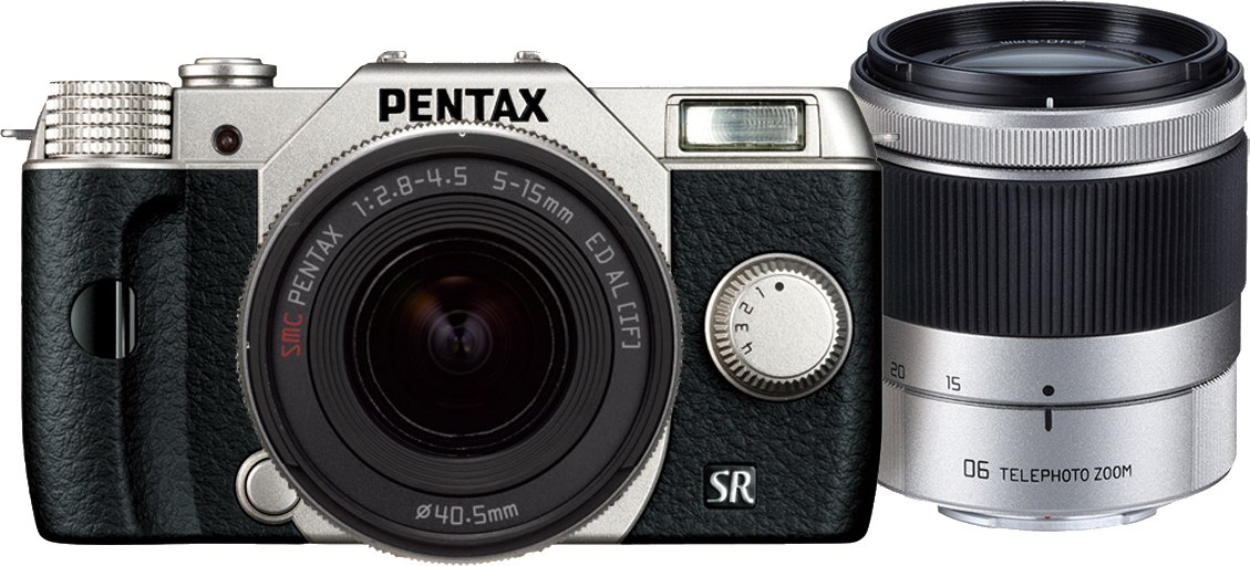 PENTAX digital SLR camera Q10 double zoom Kit silver Q10 WZOOMKIT SILVER [International Version, No Warranty]