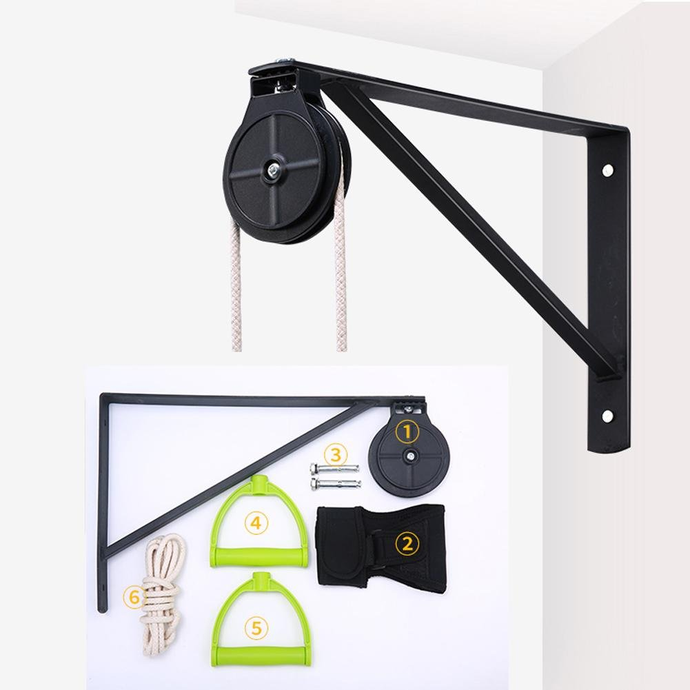 Shoulder Exercise Pulley Wall Mount Bracket Shoulder Pulley Wall Bracket Fixed Wall Support(1 Plastic Pulley)