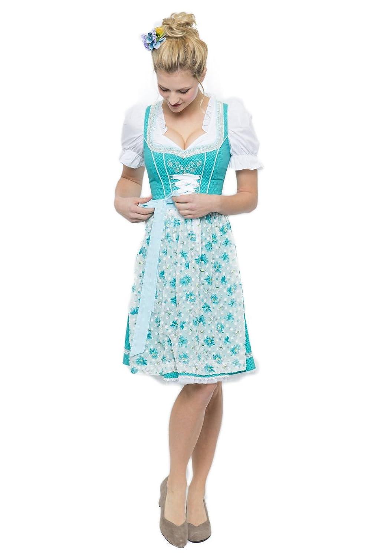 Spieth & Wensky Damen Mini Dirndl Bridget türkis D010343