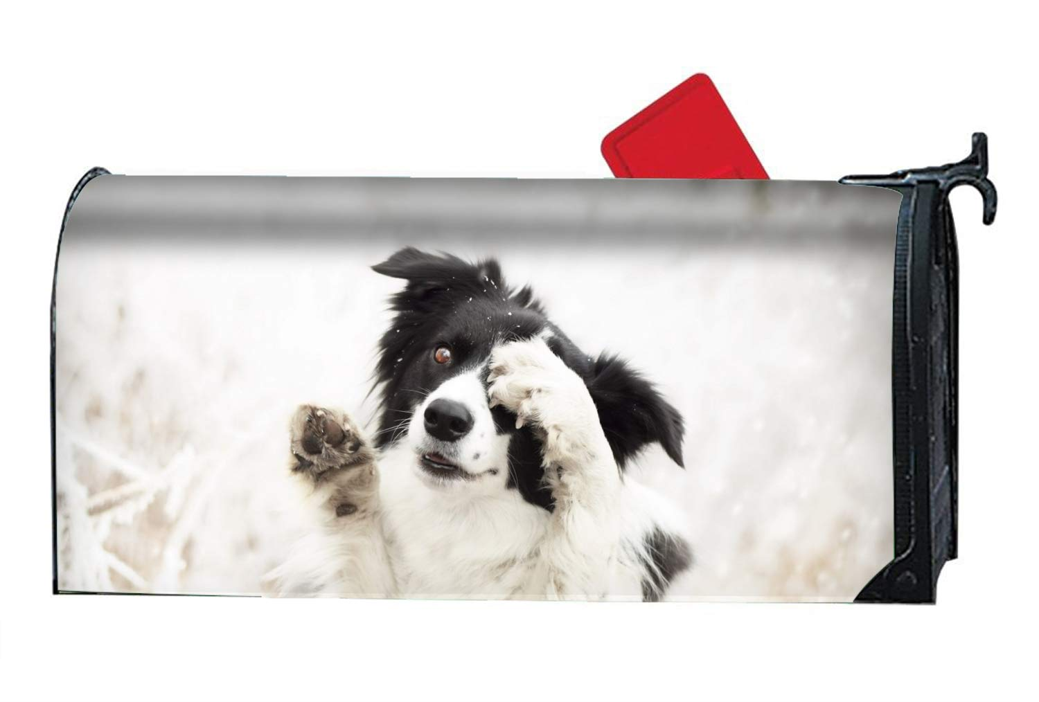 Animal Border Collie Dogs Muzzle Magnetic Mailbox Covers, Yard Decorations Suitable for Spring, Summer, Fall/Autumn and Winter by MAILL