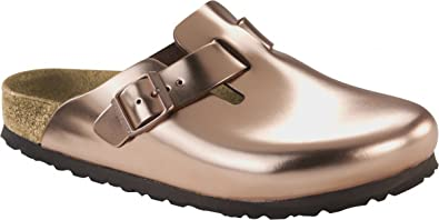 finest selection 0829f 4baa8 BIRKENSTOCK Boston Metallic Kupfer Weichbettung Glattleder