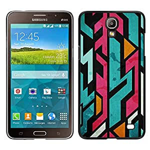 Samsung Galaxy Mega 2 / SM-G750F / G7508 Único Patrón Plástico Duro Fundas Cover Cubre Hard Case Cover - Jagged Lines Abstract Marker
