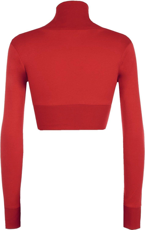 Momo/&Ayat Fashions Ladies Long Sleeve Cotton Shrug Bolero Ribbed Collar Size 6-12