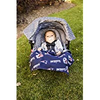 NFL New England Patriots The Whole Caboodle 5PC set - Baby Car Seat Canopy wi...