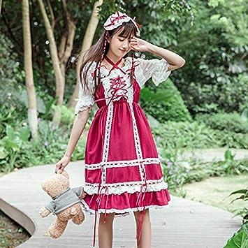 QAQBDBCKL Nuevo Lindo Vestido De Lolita De Encaje Japonés ...