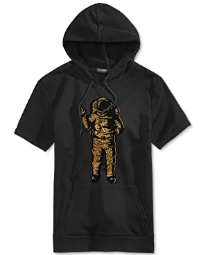 Hudson NYC Men's Astronaut Short-Sleeved Cotton Hoodie