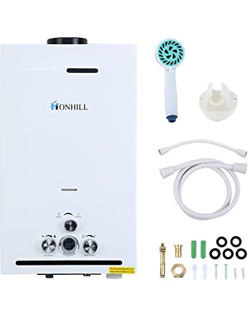 TryESeller Calentador de agua sin tanque de 12L Pantalla digital 3.2GPM LPG Caldera de agua