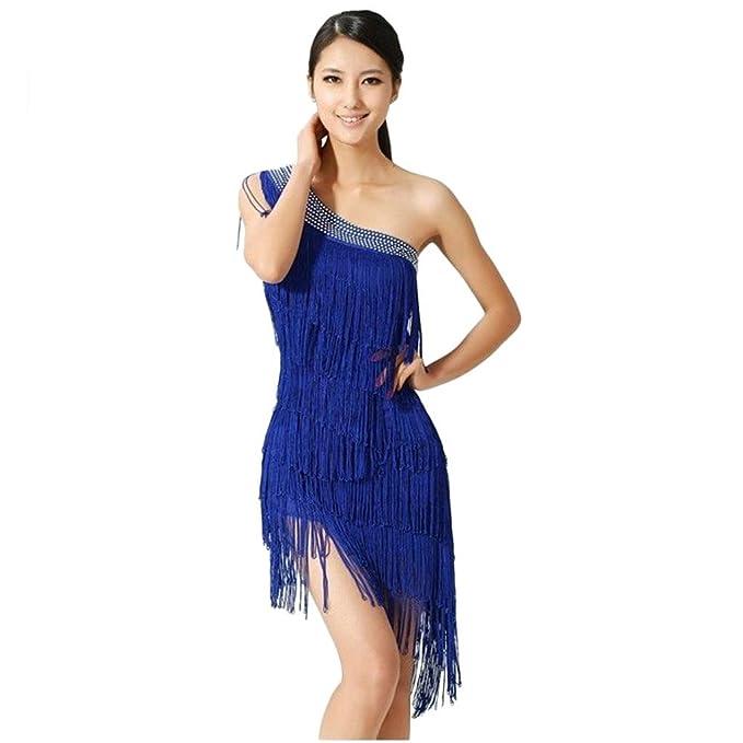 V estádo de baile para salsa, samba, rumba, tango, swing y ritmos latinos para mujer. azul azul Talla única: Amazon.es: Ropa y accesorios