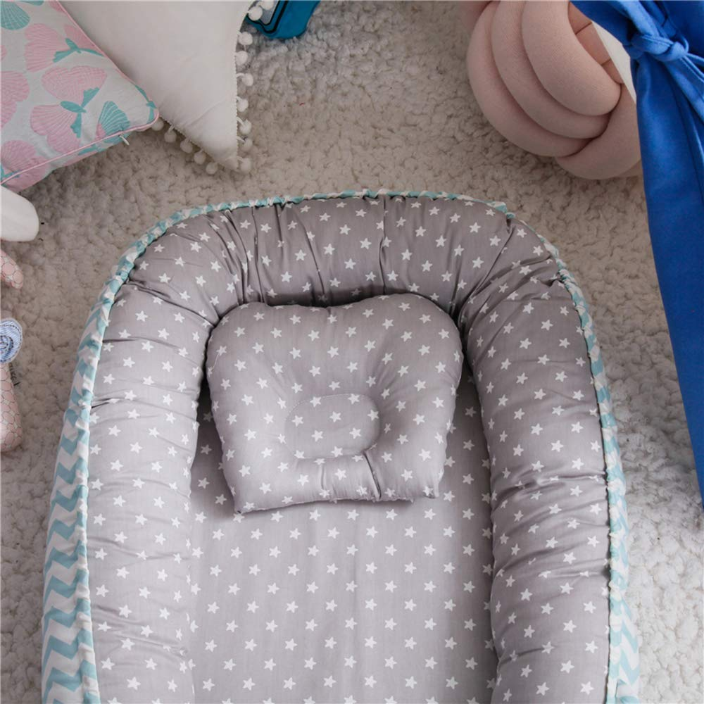 0-24 Months TEALP Multifunctional Baby Nest Grey Fox and Arrows Breathable /& Hypoallergenic Cotton Baby Bassinet for Bed//Lounger//Nest//Pod//Cot Bed//Sleeping