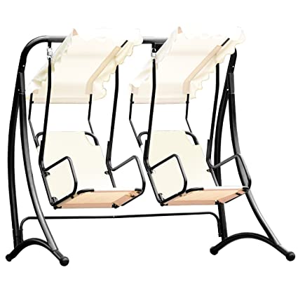 Amazoncom Almacén 2 Persons Outdoor Canopy Loveseat Patio Swing