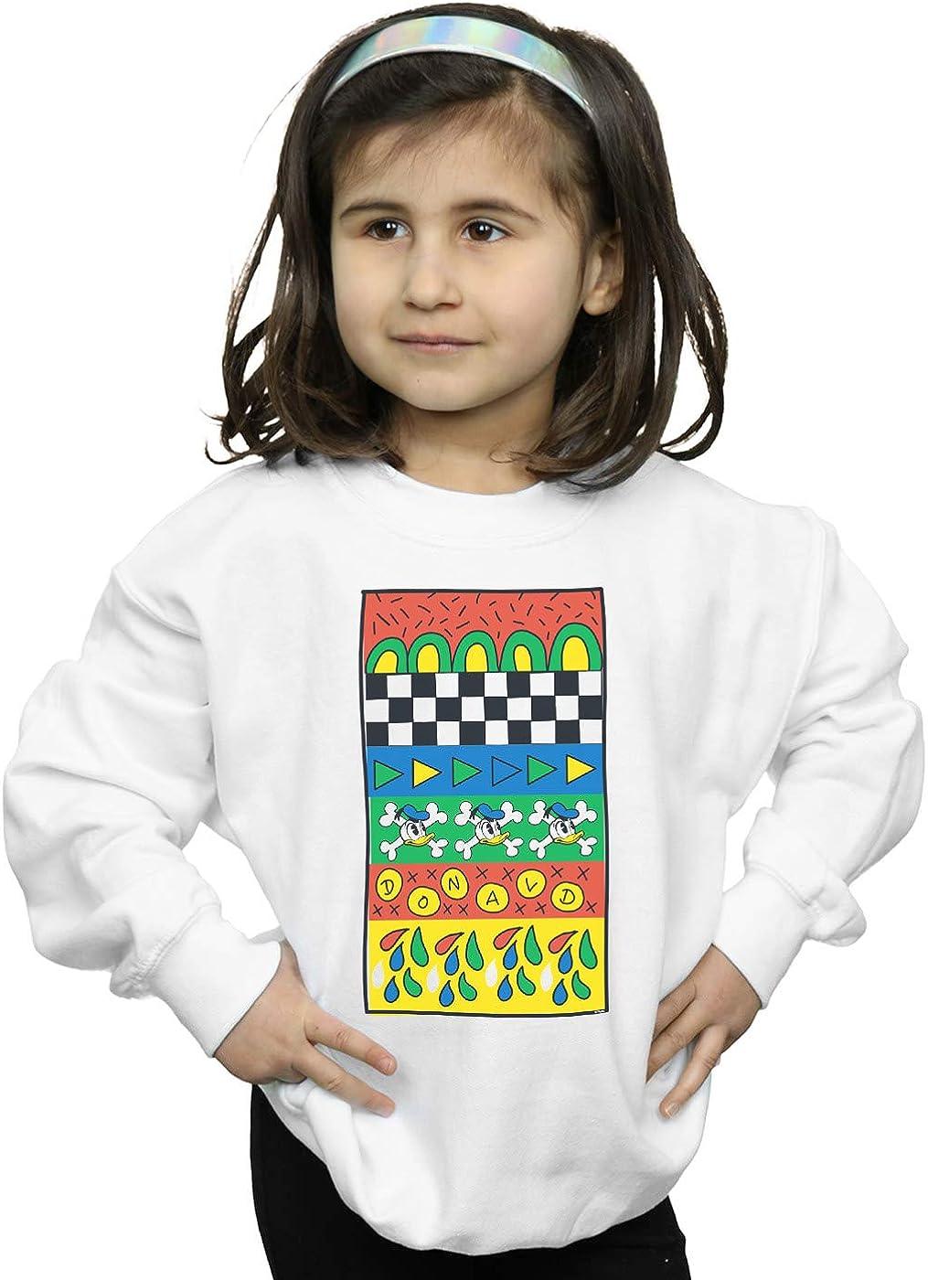 Disney Girls Donald Duck Vintage Pattern Sweatshirt