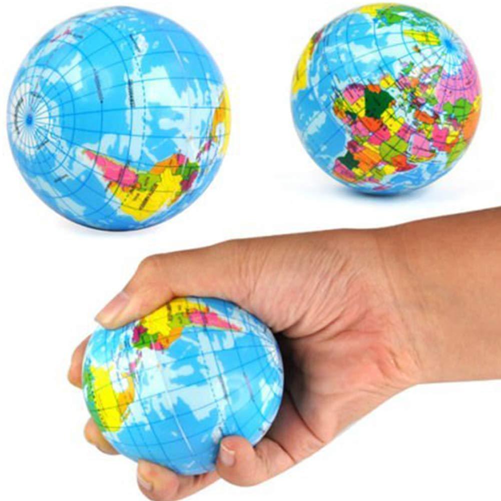 el TDAH los Newin Star Forma Tierra 7,6cm Blando de la Bola de Goma Grande estupendo Vent UVA Bola de la tensi/ón Estr/és Exprimir Alivio para ni/ños Ball /& Adults.Stress Blandos Juguetes Autismo