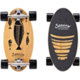 SANVIEW Short Bamboo Longboard Skateboard Cruiser for Kids Adults