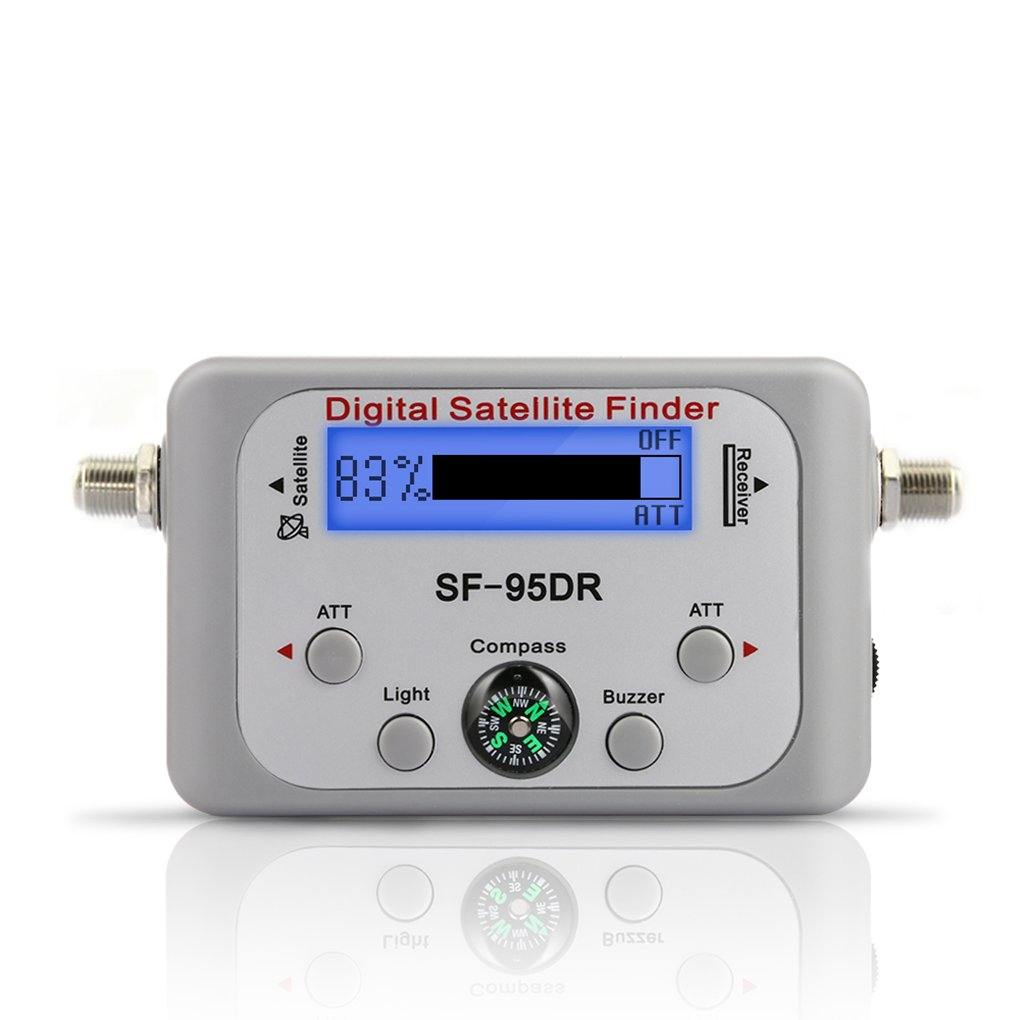Qotone TV Receiver Decoder Digital Satellite Finder Signal Meter for Directv Dish Network FTA Signal Pointer SF-95DR