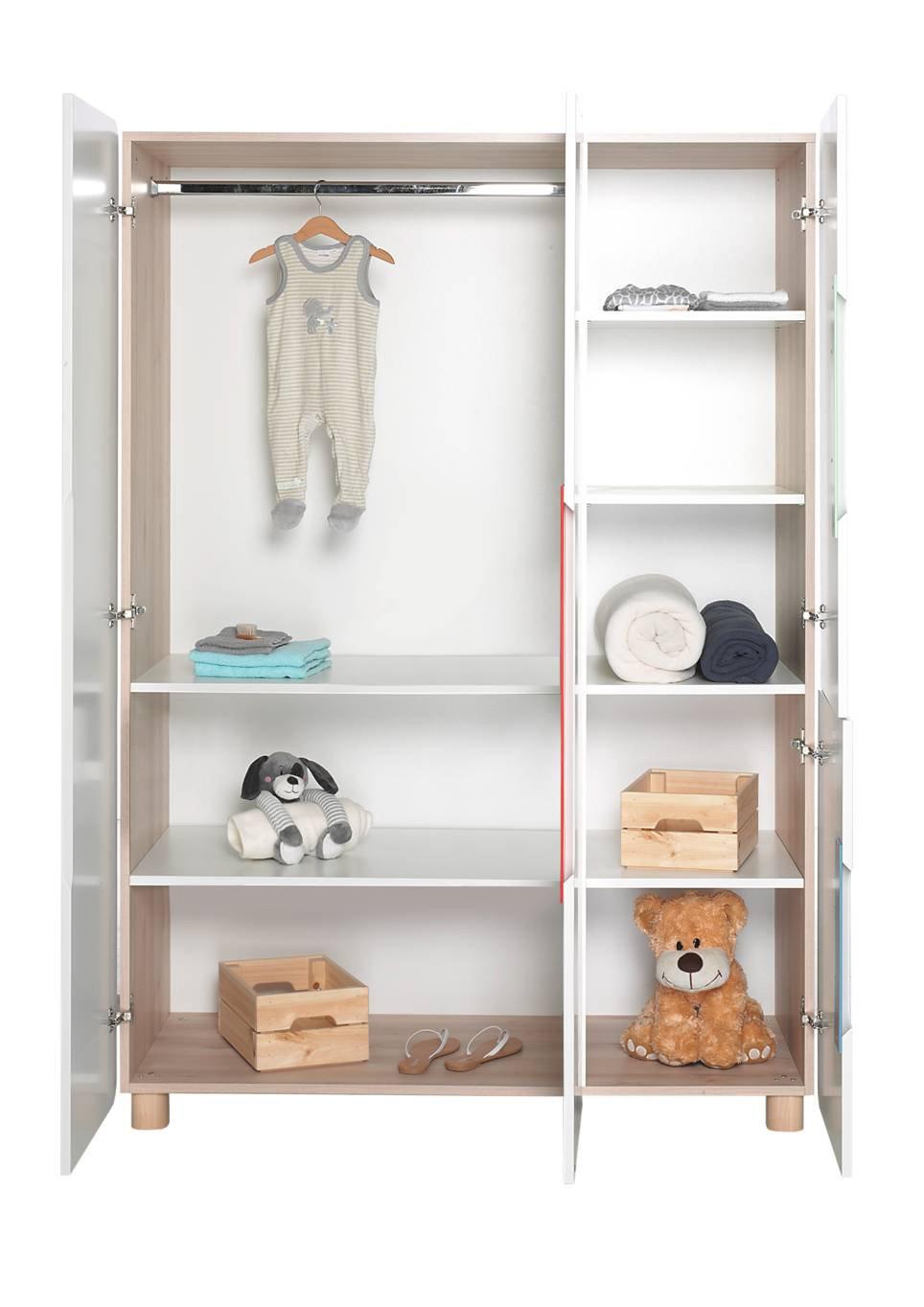Geuther - Kleiderschrank Stella, weiß/bunt: Amazon.de: Baby