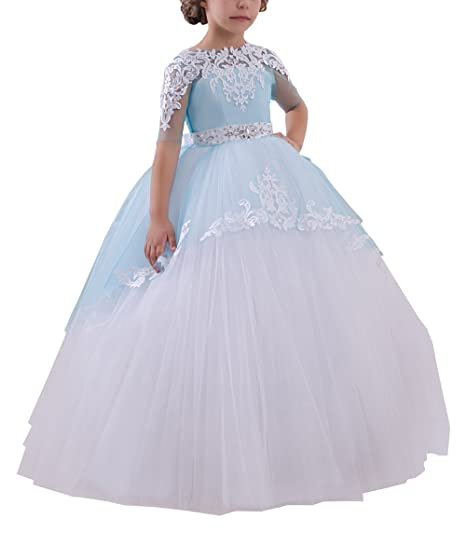 ee414831462cc Abaowedding Flower Girls Long First Communion Dresses Kids Pageant Prom  Ball Gowns