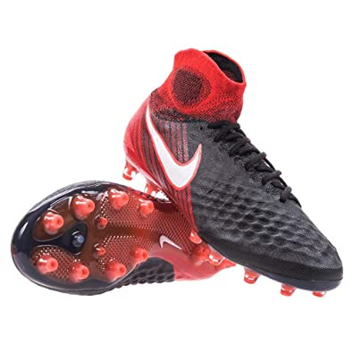 94180a88a23e ... free shipping nike magista obra ii ag pro mens soccer cleats black red 844594  061 sz