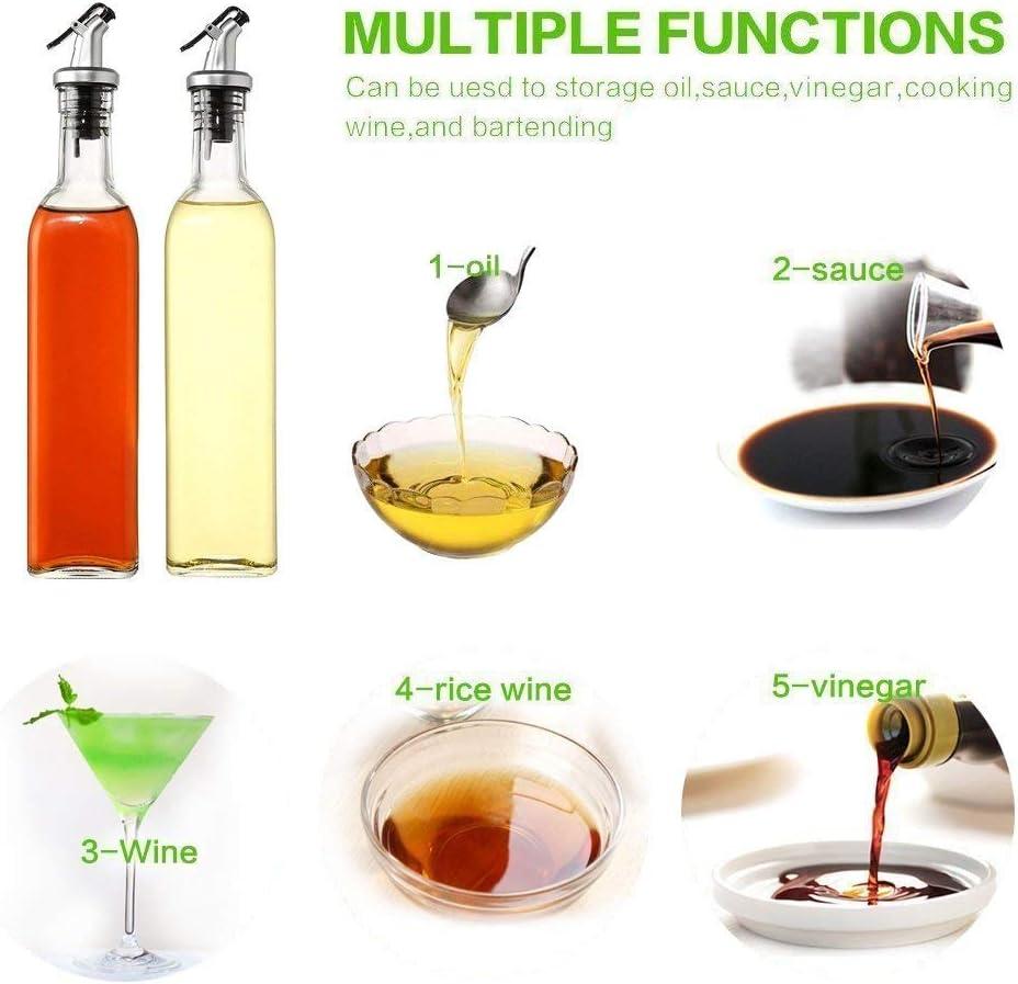 17OZ Dispenser Olio Doliva Dosatore Olio E Aceto Vetro Ampolla -Contenitore Olio Doliva 1 Confezione