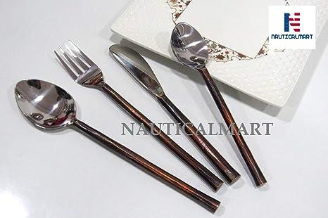 Juego de utensilios de cocina vintage de bronce rústico de ...