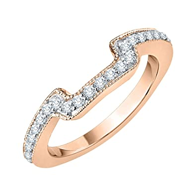 Amazon Com Katarina Diamond Prong Set Wedding Ring Enhancer Wrap